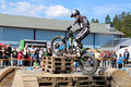 Motorcycle Trials By Timo Myohanen Royalty Free Stock Photos - 41654538