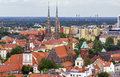 Aerial View Of Numerous Church Towers And Spires In Wroclaw, Pol Stock Photo - 41663580