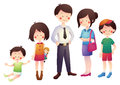 Cartoon Family With Parents And Children Stock Image - 41675441