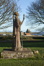 Statue Of St Aidan On Holy Island, Lindisfarne, No Royalty Free Stock Photography - 41676257