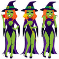 Sexy Evil Green Witch Royalty Free Stock Images - 41678449