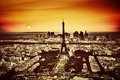 Paris, France At Sunset. View On The Eiffel Tower Stock Images - 41678914
