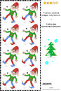 Visual Puzzle - Find Two Identical Images Of Gnomes Royalty Free Stock Image - 41682066