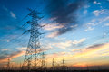 Power Transmission Tower At Dusk Royalty Free Stock Photos - 41683038