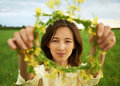 Beautiful Woman With Flowers Stock Image - 41707991
