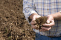 Close Up Of Farmer Cupping Soil In Ploughed Field Royalty Free Stock Image - 41714206
