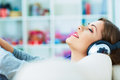 Relax With Listening Music. Young Woman Stock Image - 41714721