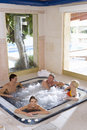 Couples In Hot Tub Stock Images - 41717304