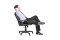 Relaxed Man Sitting In An Office Chair Royalty Free Stock Photo - 41726195