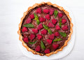Chocolate Tart With Raspberry Stock Images - 41726334