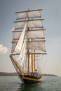 Old Ship With White Sales, Sailing Stock Images - 41728784