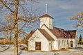 Country Church With Steel Roof Stock Image - 41751111