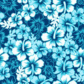 Surf Floral Hibiscus Seamless Pattern Royalty Free Stock Photo - 41755285
