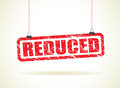 Reduced Hanging Sign Royalty Free Stock Photo - 41758145