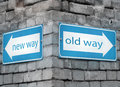 New And Old Way Directions Royalty Free Stock Photo - 41767445