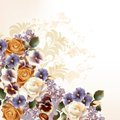 Fashion Background With Roses In Retro Style Royalty Free Stock Images - 41777979