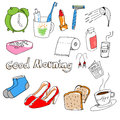 Hand-drawn Stuff In The Morning Royalty Free Stock Photography - 41785157