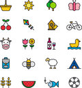 Set Of Outdoor Activity Icons Stock Images - 41787134