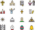 Catholic Religion Icons Stock Photo - 41788770