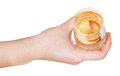 Top View Of Hand Holding Glass With Sparkling Wine Royalty Free Stock Photos - 41797478