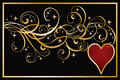 Heart Poker Banner Royalty Free Stock Image - 41800916