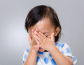 Little Girl Hand Cover Her Face Royalty Free Stock Photos - 41803598