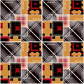 Patchwork Geometric Abstract Bright Elements Seamless Pattern Ba Royalty Free Stock Photography - 41804277
