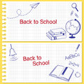 Back To School Banners Royalty Free Stock Photo - 41807095