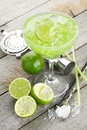 Classic Margarita Cocktail With Salty Rim Stock Photography - 41815292