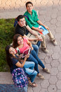 High School Friends Hanging Out Stock Images - 41816274
