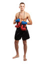 Young Boxer Man Isolated On White Background Royalty Free Stock Image - 41819246