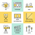 Films And Post Production Flat Icons Stock Photos - 41828073