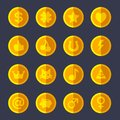 Set Of Flat Gold Coins Royalty Free Stock Photography - 41832727