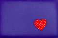Red Heart On Purple Leather Vintage Background Royalty Free Stock Image - 41836596