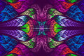 Multicolor Beautiful Fractal Pattern Royalty Free Stock Photography - 41838907