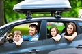 Family Sitting In The Car Royalty Free Stock Photos - 41843458