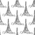 Eiffel Tower Seamless Background Pattern Royalty Free Stock Image - 41851376