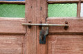 Wooden Door With Lock Stock Photography - 41853242