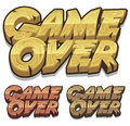 Cartoon Game Over Icon For Ui Game Royalty Free Stock Photo - 41864935