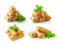 Fried Chinese Traditional Spring Rolls Food Royalty Free Stock Images - 41865489