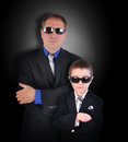 Father And Son Secret Agents With Sunglasses Royalty Free Stock Photography - 41867177