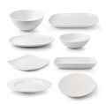 White Ceramics Plate And Bowl Royalty Free Stock Photo - 41869055