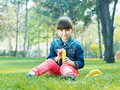 Girl With Banana Stock Photos - 41869463