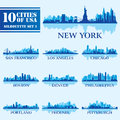 Silhouette City Set Of USA 1 Royalty Free Stock Image - 41874796