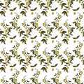 Seamless Patterns Made From Branches Of Green Olives. Royalty Free Stock Images - 41882089