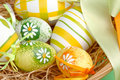 Easter Eggs In A Basket Stock Image - 4192491