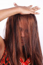 Asian Model With Hair In Face Stock Photos - 4199883