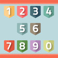 Set Of Number On A Flag Royalty Free Stock Images - 41900249