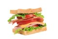Sandwich With Bacon And Vegetables. Stock Photography - 41923362