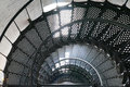 A Spiral Staircase Inside A Lighthouse Stock Photo - 41935710